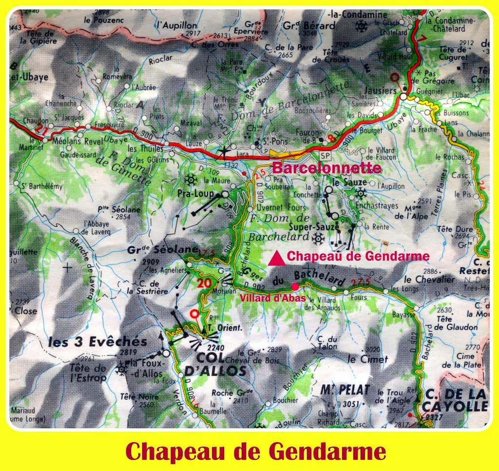 Chapeau de Gendarme map