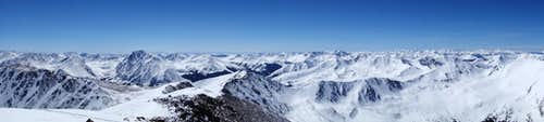 Panorama from summit.