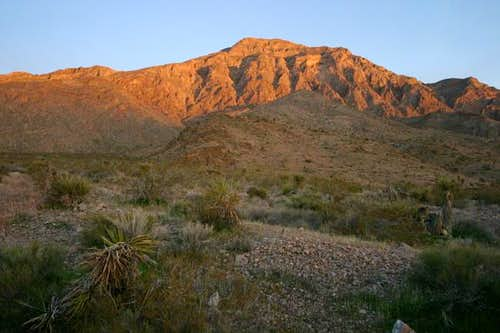 Moapa Peak at sunrise from...