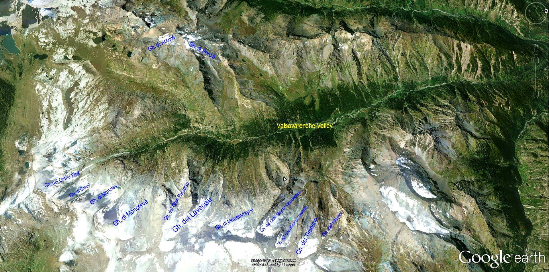 Glaciers of Valsavarenche Valley (Gran Paradiso)
