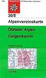 Alpenvereinskarte 30/5 Geigenkamm/Otztal Alps
