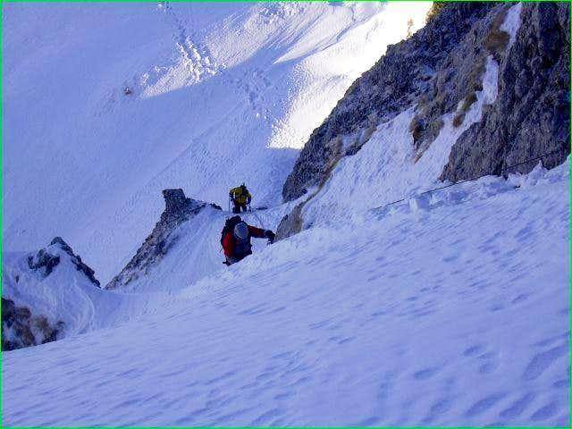 Ascending the Gendarme -...