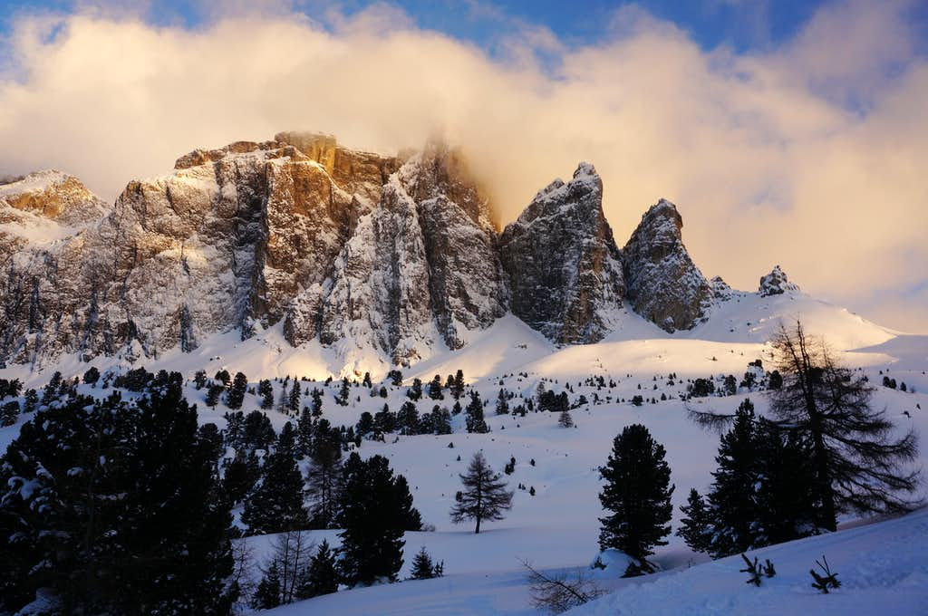The Sella towers @ Sunset