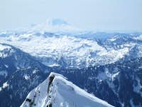 Mt. Rainier from the Summit of Baring Mountain