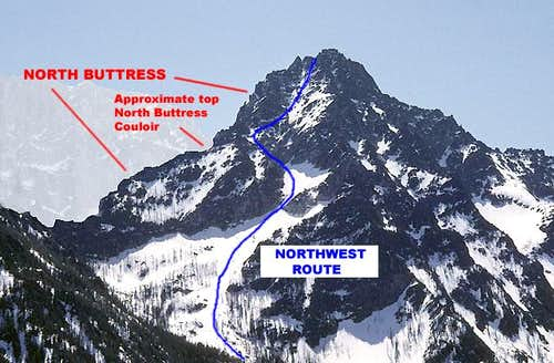 Colchuck Peak<br>Northwest Route & North Buttress