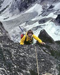 High on North Buttress, Colchuck Peak