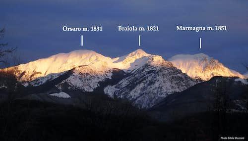 Orsaro - Marmagna Subgroup seen from Tuscany