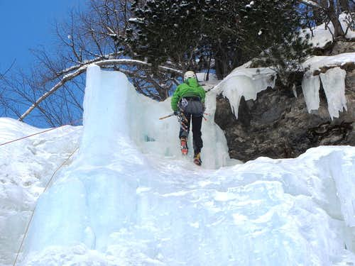 Almost at the top of the La Gouille icefall