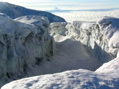 A better view of the crevasse...
