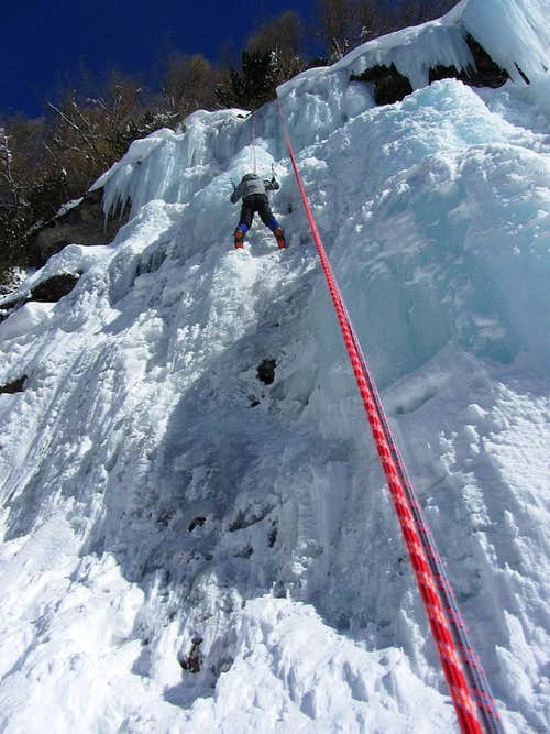 Ice climbing at La Gouille