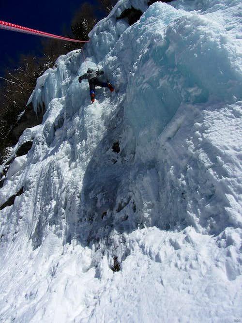 Jan climbing at La Gouille