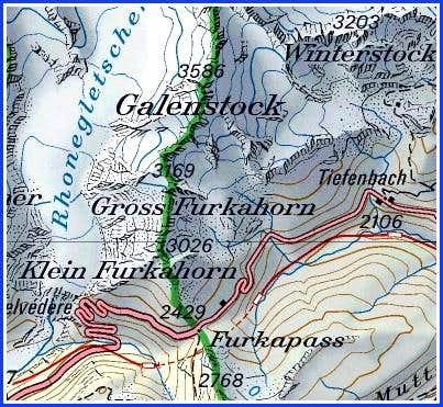 Gross Furkahorn map