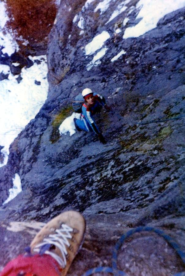 Curtain VI° Emilius ... Climbing on Low Gorge Dard 1978
