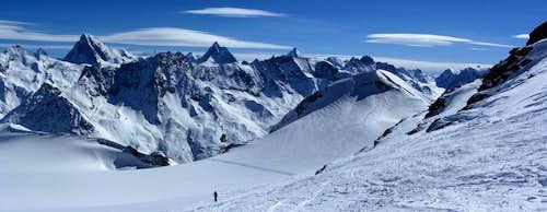 Walliser Alps panorama from Pointe de Vouasson