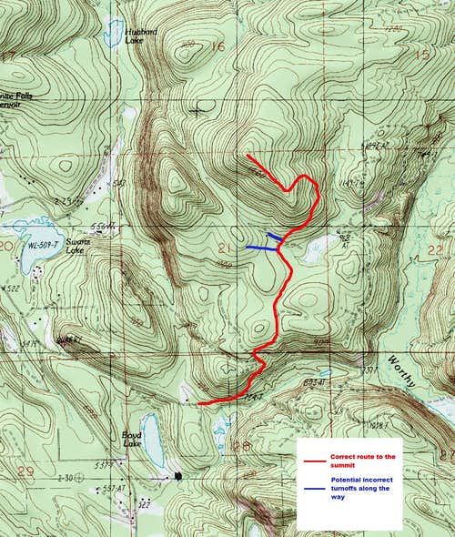 Chitwood Peak Map