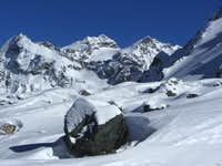 Dents de Bertol (3547m) from the slopes of Pigne d\'Arolla
