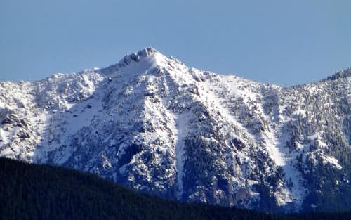 Bald Mountain (telephoto) from Highwire's east summit
