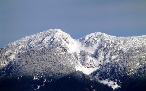 Mount Pilchuck (telephoto) from Highwire's east summit