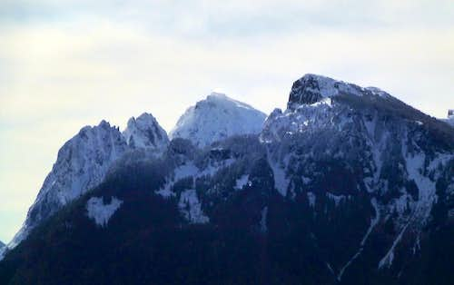 Mount Index and Mount Persis from Highwire's east summit