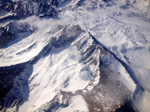 Aerial view of Mount Humphreys