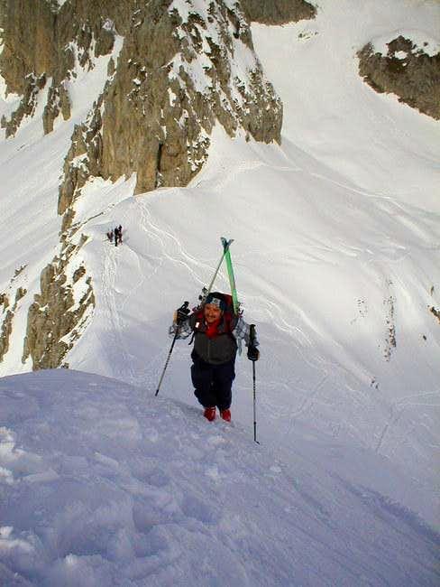 Reaching Monte Corzene...