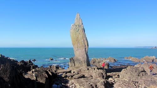 Bantham Hand Sea Stack and Simu-Abseil