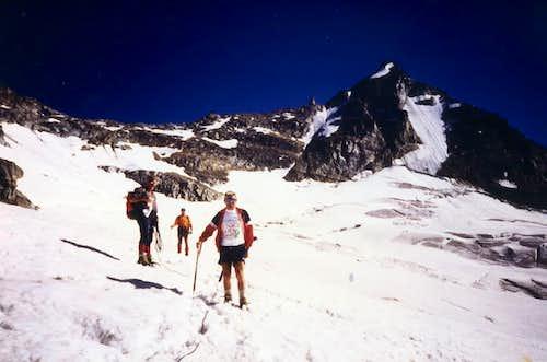 Descending from Northeast Crest of Becca Monciair 1994