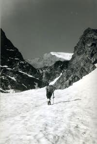 Quietly climbing to North Wall of Mont Paramont 1969