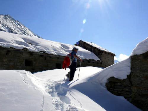 Arriving in Turin Alp on Nivolé Lower Tableland 2007
