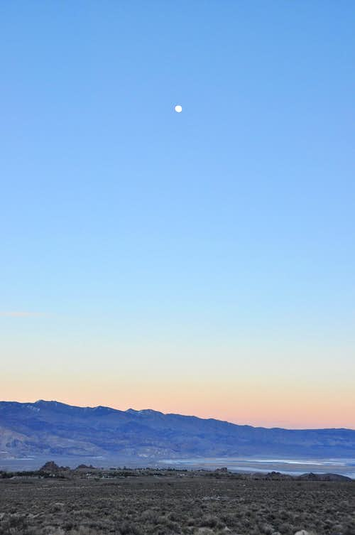 Moon over Owens Valley