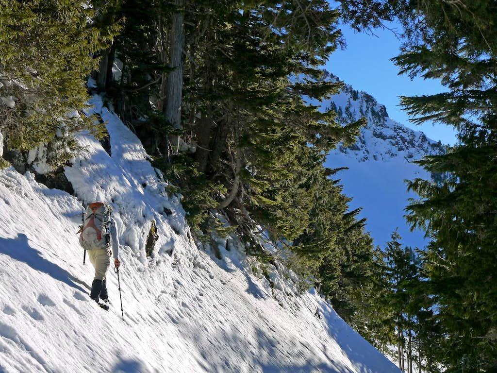 Gimpilator Hiking along a Steep Slope