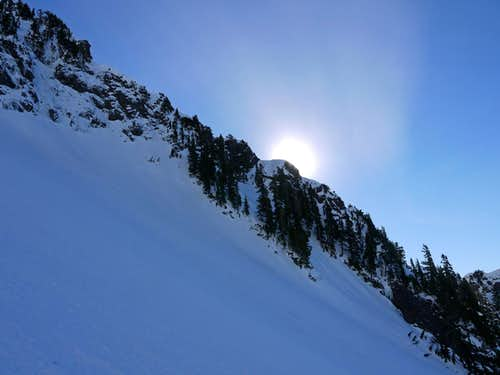 The Sun with the West Ridge