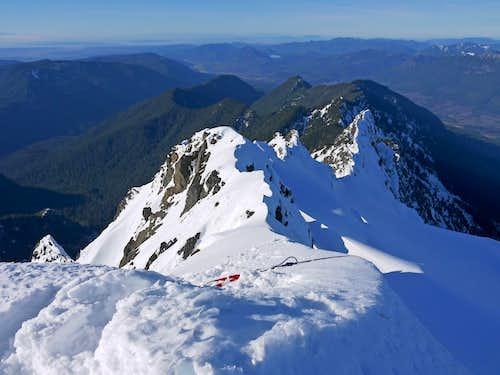 Whitehorse Ridge from the Summit