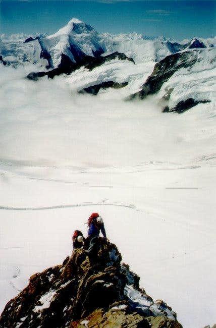 Climbing the Monch ridge (2003)