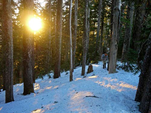 Hiking along Lone Tree Pass during Sunset