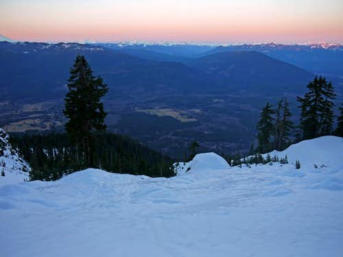 Icy Slopes during Sunset