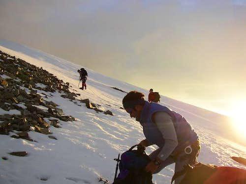 Ready to climb Piz Bernina...
