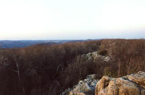 View from the ledges of High...