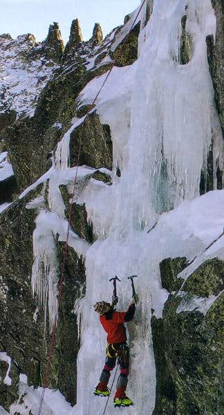 Ice climbing in the...
