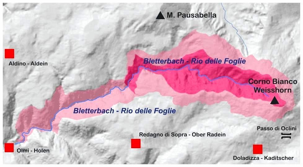 Bletterbach - Rio delle Foglie map
