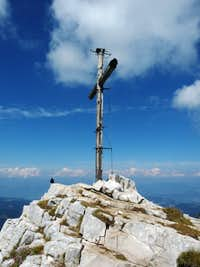 Summit cross on Cima Valbona