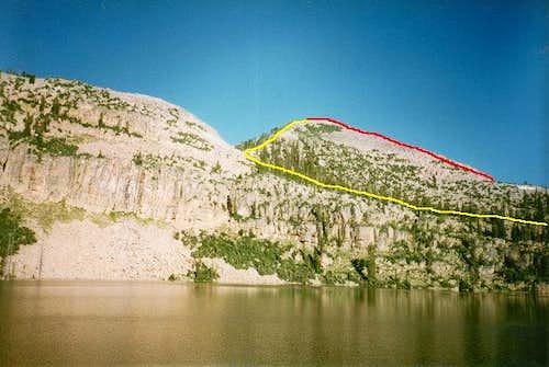 Wall Peak from Big Elk Lake....