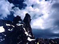 Climbers directly below the...