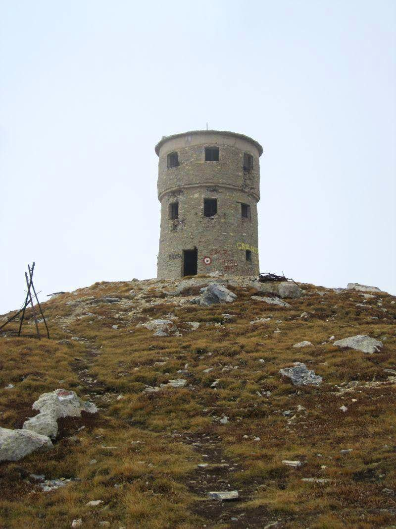 Tower on the summit of Titov vrv