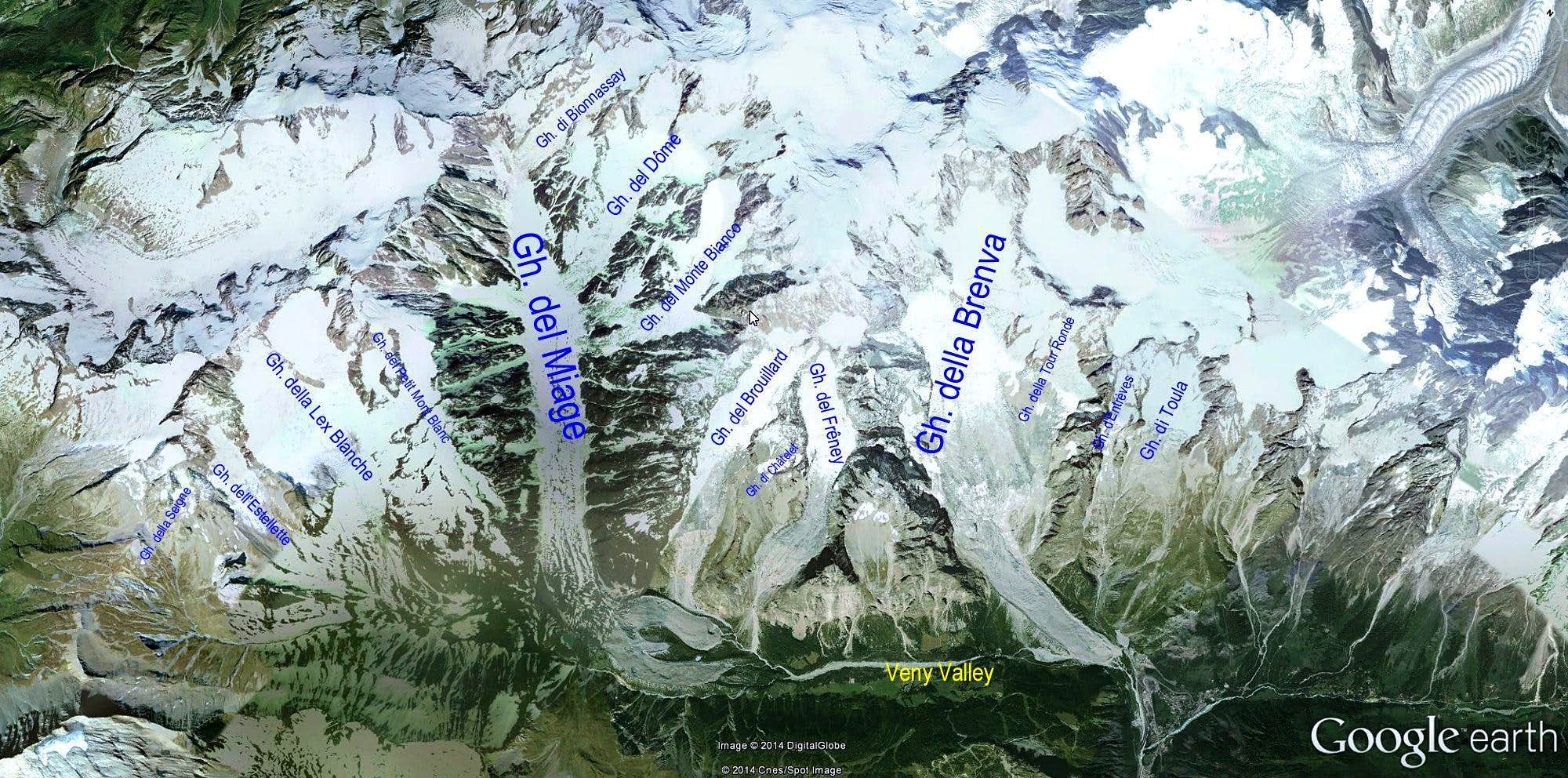 Glaciers of Val Veny (Courmayeur Mont Blanc)