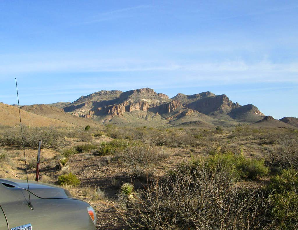 Peloncillo Mountain from the TH