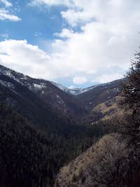 View up Rapid River
