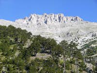 Summit crags from Refuge A