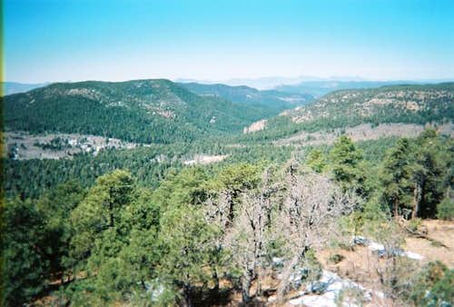 A view of the Sierra Ancha...