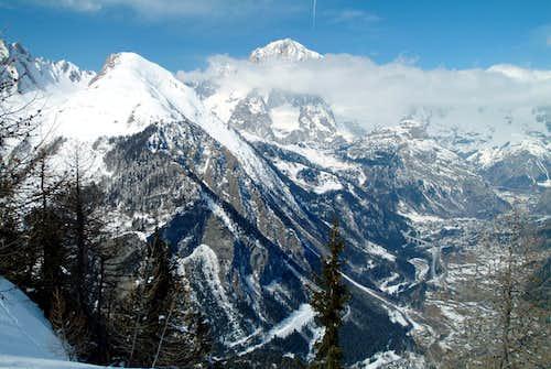 Mont Crammont & Mont Blanc from Testa d'Arpy 2004